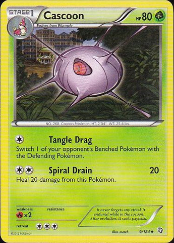 Cascoon - 9/124 UncommonPokemon Card SingleGotta Collect 'Em All! Pokemon