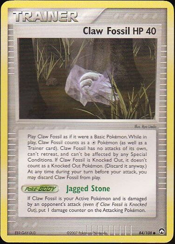 Claw Fossil - 84/108 CommonPokemon Card SingleGotta Collect 'Em All! Pokemon