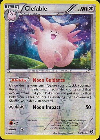 Clefable - 98/135 Rare Reverse HoloPokemon Card SingleGotta Collect 'Em All! Pokemon
