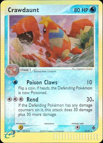 Crawdaunt - 13/97 Rare Reverse HoloPokemon Card SingleGotta Collect 'Em All! Pokemon