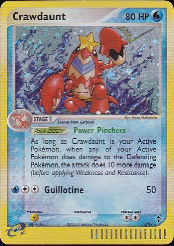 Crawdaunt - 3/97 Rare HoloPokemon Card SingleGotta Collect 'Em All! Pokemon