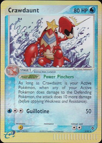 Crawdaunt - 3/97 Rare Reverse HoloPokemon Card SingleGotta Collect 'Em All! Pokemon