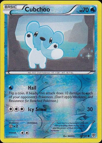 Cubchoo - 40/135 Common Reverse HoloPokemon Card SingleGotta Collect 'Em All! Pokemon