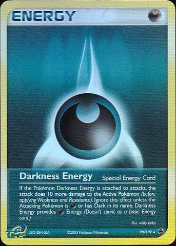 Darkness Energy - 93/109 Rare Reverse HoloPokemon Card SingleGotta Collect 'Em All! Pokemon