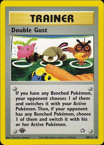Double Gust - 100/111 Common 1st EditionPokemon Card SingleGotta Collect 'Em All! Pokemon