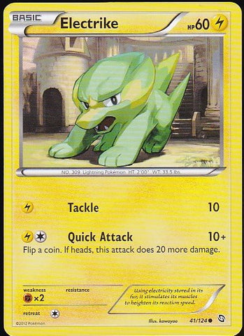 Electrike - 41/124 CommonPokemon Card SingleGotta Collect 'Em All! Pokemon