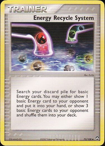 Energy Recycle System - 73/108 UncommonPokemon Card SingleGotta Collect 'Em All! Pokemon