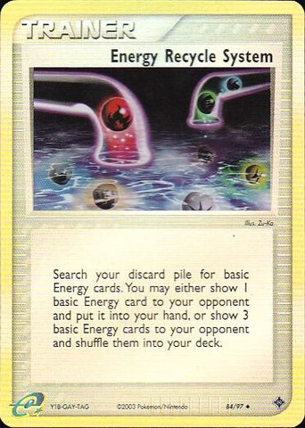 Energy Recycle System - 84/97 Uncommon Reverse HoloPokemon Card SingleGotta Collect 'Em All! Pokemon