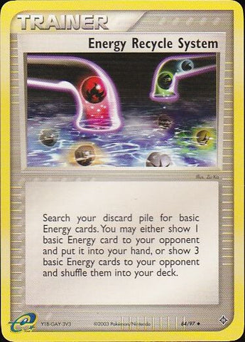 Energy Recycle System - 84/97 UncommonPokemon Card SingleGotta Collect 'Em All! Pokemon