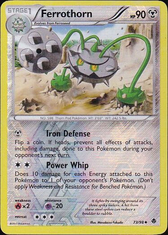 Ferrothorn - 73/98 Uncommon Reverse HoloPokemon Card SingleGotta Collect 'Em All! Pokemon