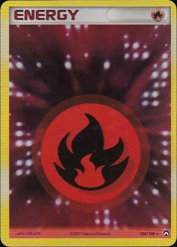 Fire Energy - 104/108 Rare HoloPokemon Card SingleGotta Collect 'Em All! Pokemon