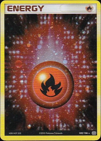 Fire Energy - 102/106 Rare HoloPokemon Card SingleGotta Collect 'Em All! Pokemon