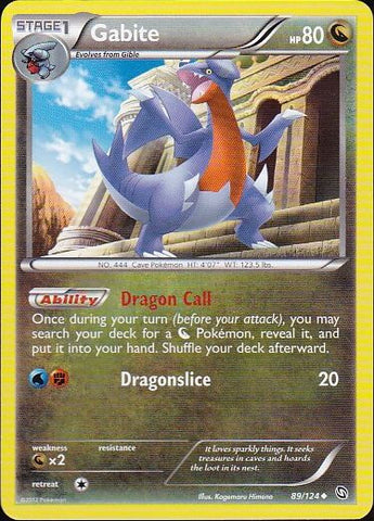 Gabite - 89/124 UncommonPokemon Card SingleGotta Collect 'Em All! Pokemon