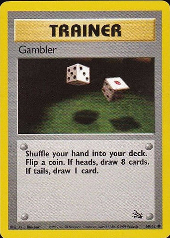 Gambler - 60/62 CommonPokemon Card SingleGotta Collect 'Em All! Pokemon