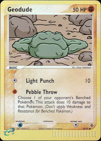 Geodude - 55/97 Common Reverse HoloPokemon Card SingleGotta Collect 'Em All! Pokemon