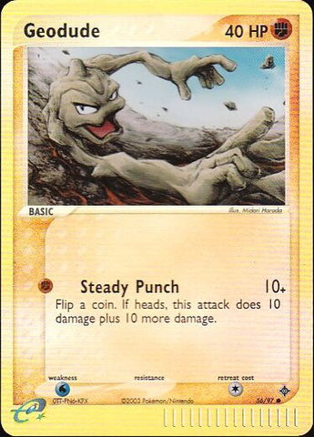 Geodude - 56/97 Common Reverse HoloPokemon Card SingleGotta Collect 'Em All! Pokemon