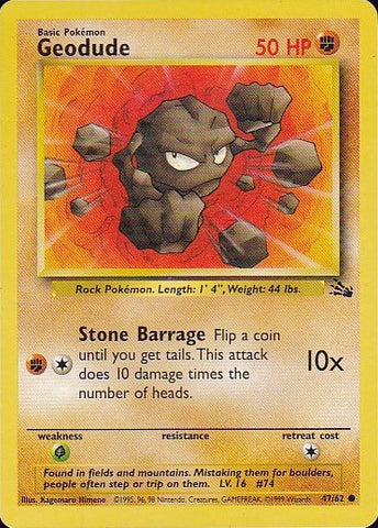 Geodude - 47/62 CommonPokemon Card SingleGotta Collect 'Em All! Pokemon