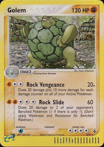 Golem - 5/97 Rare HoloPokemon Card SingleGotta Collect 'Em All! Pokemon