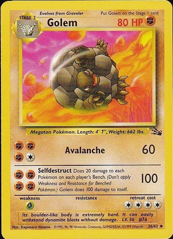 Golem - 36/62 UncommonPokemon Card SingleGotta Collect 'Em All! Pokemon