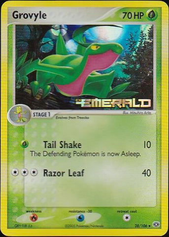 Grovyle - 28/106 Uncommon Reverse HoloPokemon Card SingleGotta Collect 'Em All! Pokemon
