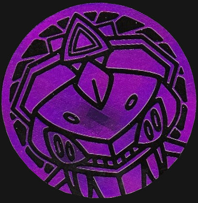 Genesect Purple Pixel Holo Coin