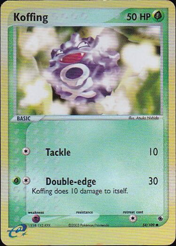 Koffing - 54/109 Common Reverse HoloPokemon Card SingleGotta Collect 'Em All! Pokemon