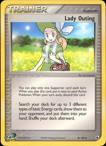 Lady Outing - 83/109 UncommonPokemon Card SingleGotta Collect 'Em All! Pokemon