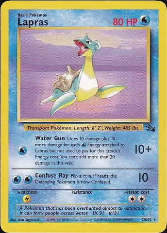 Lapras - 25/62 RarePokemon Card SingleGotta Collect 'Em All! Pokemon