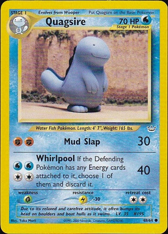 Quagsire 48/64 - CommonPokemon Card SingleGotta Collect 'Em All! Pokemon