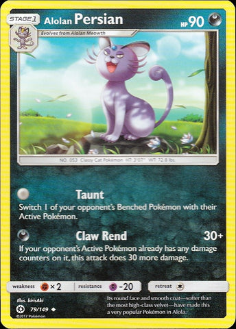 Alolan Persian - 79/149 Uncommon