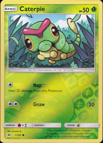 Caterpie - 1/149 Common Reverse Holo