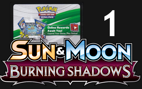 Burning Shadows Online Booster Pack Code [PTCGO]