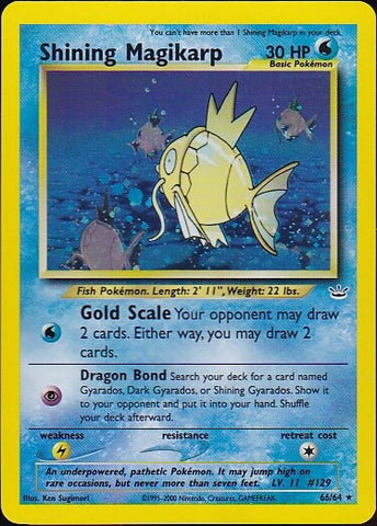 Shining Magikarp - 66/64 Secret Rare HoloPokemon Card SingleGotta Collect 'Em All! Pokemon