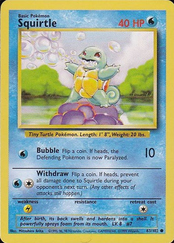 Squirtle 63/102 - CommonPokemon Card SingleGotta Collect 'Em All! Pokemon