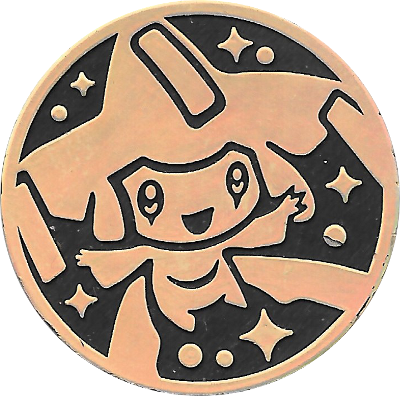 Jirachi 2003 Gold Rainbow Holo Coin