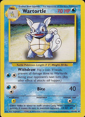Wartortle 42/102 - UncommonPokemon Card SingleGotta Collect 'Em All! Pokemon