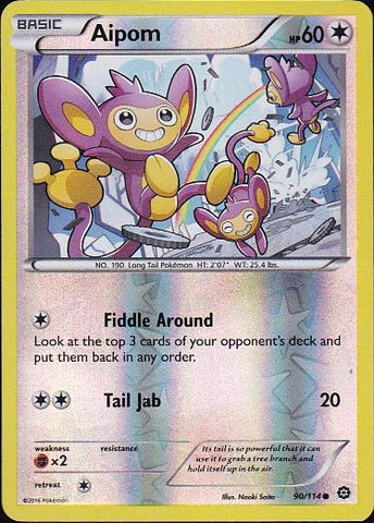 Aipom - 90/114 Common Reverse Holo, Pokemon Card Single, Gotta Collect Em All, product_collection], Pokemon