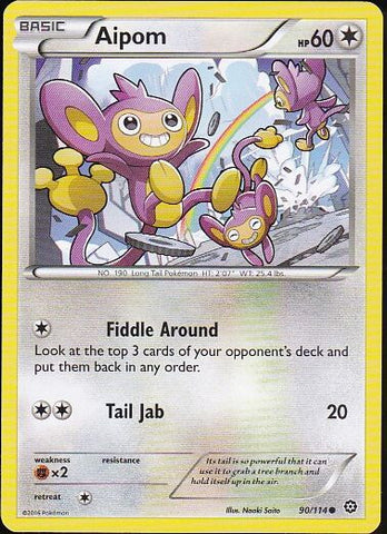 Aipom - 90/114 Common, Pokemon Card Single, Gotta Collect Em All, product_collection], Pokemon
