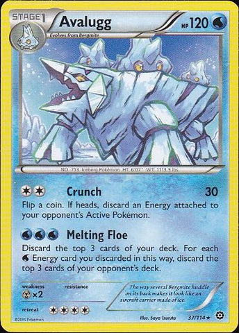Avalugg - 37/114 Rare, Pokemon Card Single, Gotta Collect Em All, product_collection], Pokemon