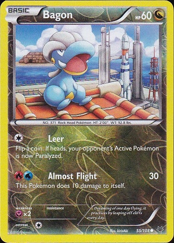 Bagon - 55/108 Common Reverse Holo, Pokemon Card Single, Gotta Collect Em All, product_collection], Pokemon