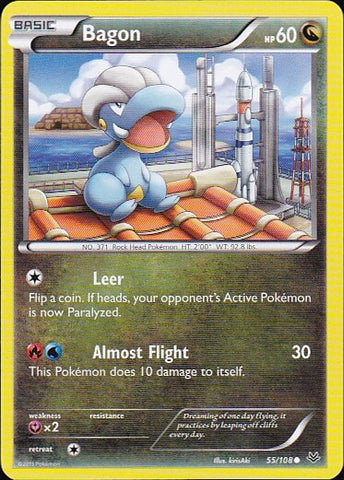 Bagon - 55/108 Common, Pokemon Card Single, Gotta Collect Em All, product_collection], Pokemon