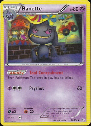 Banette - 31/108 Rare, Pokemon Card Single, Gotta Collect Em All, product_collection], Pokemon