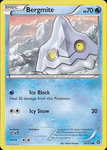 Bergmite - 36/114 Common, Pokemon Card Single, Gotta Collect Em All, product_collection], Pokemon