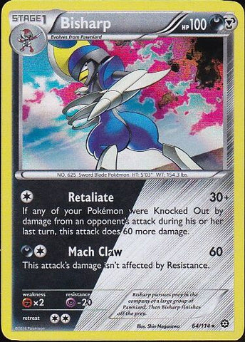 Bisharp - 64/114 Rare HoloPokemon Card SingleGotta Collect 'Em All! Pokemon