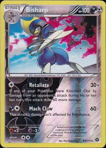 Bisharp - 64/114 Rare Reverse HoloPokemon Card SingleGotta Collect 'Em All! Pokemon