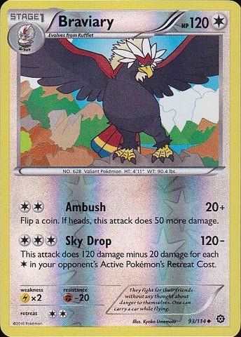 Braviary - 93/114 Uncommon Reverse HoloPokemon Card SingleGotta Collect 'Em All! Pokemon