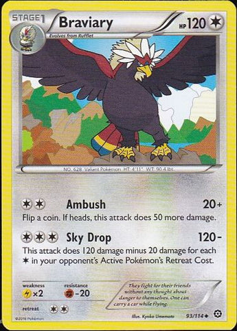 Braviary - 93/114 Uncommon, Pokemon Card Single, Gotta Collect Em All, product_collection],Pokemon