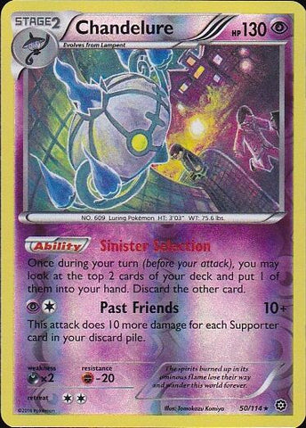 Chandelure - 50/114 Rare Reverse HoloPokemon Card SingleGotta Collect 'Em All! Pokemon