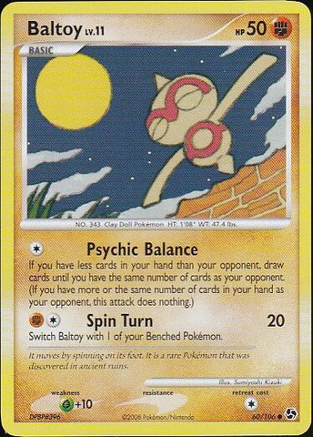 Baltoy - 60/106 Common, Pokemon Card Single, Gotta Collect Em All, product_collection], Pokemon