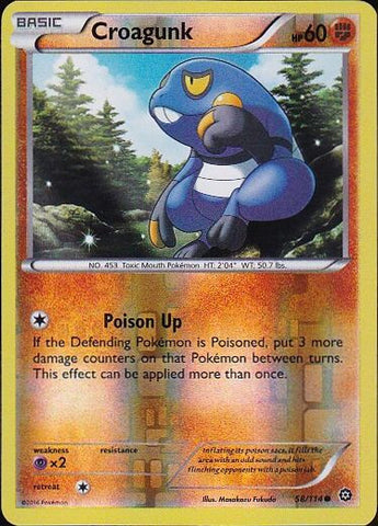 Croagunk - 58/114 Common Reverse HoloPokemon Card SingleGotta Collect 'Em All! Pokemon
